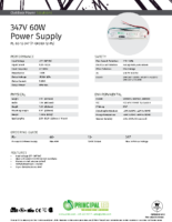 Datasheet – 347V 60W Power Supply