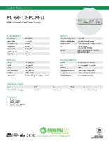 Datasheet – Plastic Universal 60W Power Supply