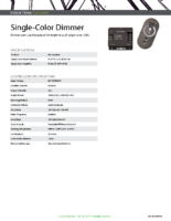 Datasheet – Single-Color Dimmer