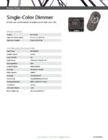 Datasheet – Single-Color Dimmer