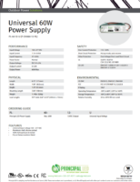 Datasheet – Universal 60W Power Supply