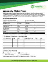Warranty Claim Form