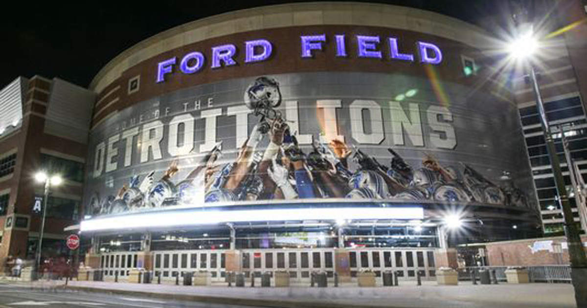Principal LED lights up Ford Field